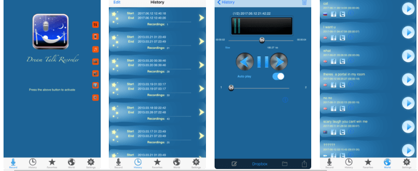 Dream Talk Recorder søvn app